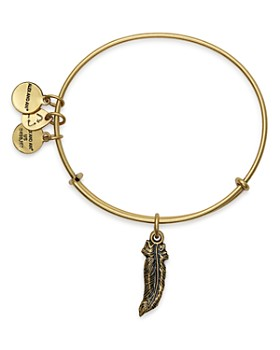 Alex and Ani - Feather Expandable Wire Bangle