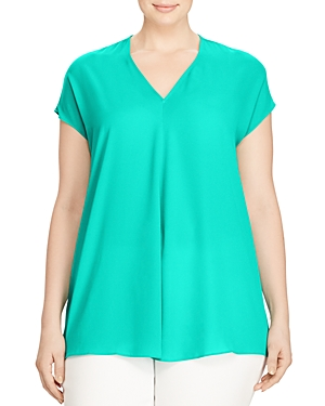 Lauren Ralph Lauren Plus Pleat Front Top