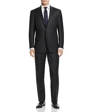 Hart Schaffner Marx Chalk Stripe Basic New York Classic Fit Suit