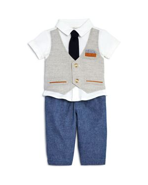 Miniclasix Boys' Vested Top & Pants Set - Baby