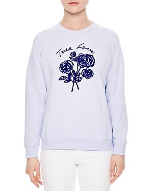 Sandro Florine Embroidered Sweatshirt