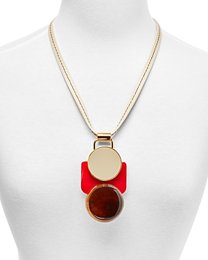 Marni Horn & Resin Pendant Necklace, 24