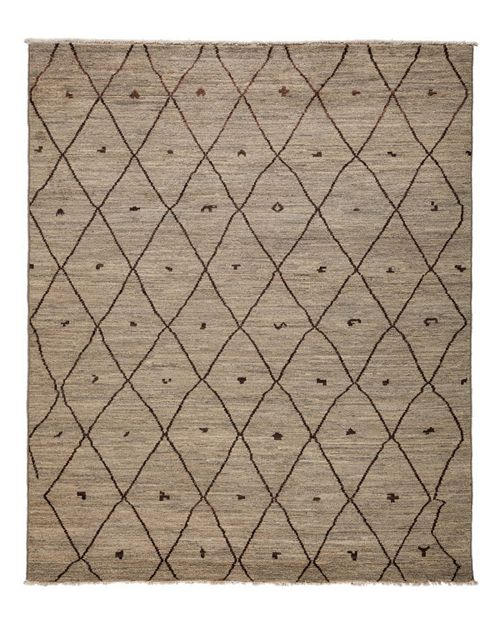 "Solo Rugs - Moroccan Collection Oriental Rug, 7'10"" x 9'3"""