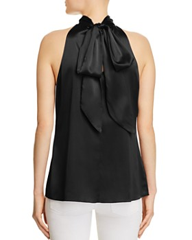 Ramy Brook - Paige Tie Neck Silk Top