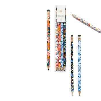 Rifle Paper Co. - Floral Pencils, Set of 12