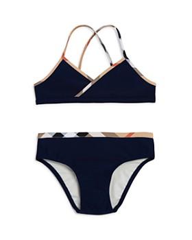 Burberry - Girls' Check Trim 2-Piece Swimsuit - Little Kid, Big Kid