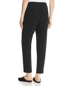 Eileen Fisher Petites - Slouchy Silk Ankle Pants