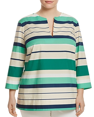 Lafayette 148 New York Plus Moria Stripe Tunic