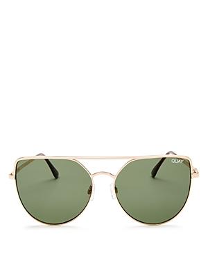 Quay Santa Fe Mirrored Cat Eye Sunglasses, 60mm