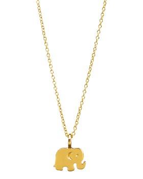 "Dogeared - Good Luck Elephant Necklace, 16"""