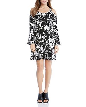 Karen Kane Cold Shoulder Flare Sleeve Dress