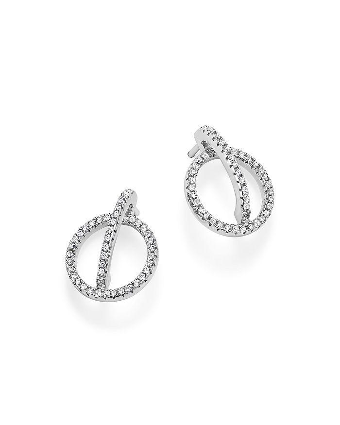 Bloomingdale's - Diamond Geometric Earrings in 14K White Gold, .50 ct. t.w. - 100% Exclusive