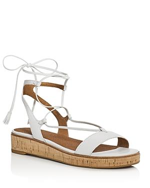 Frye Miranda Leather Gladiator Wedge Sandals