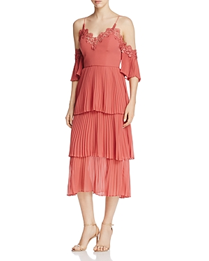 Keepsake All Time High Pleated Ruffle Dress