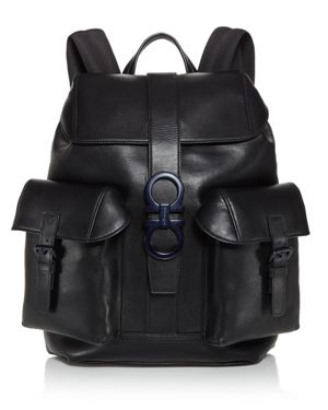 Salvatore Ferragamo Gancio Trott Double Gancini Buckle Backpack