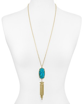Kendra Scott - Signature Rayne Pendant Tassel Necklace, 38""