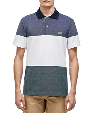 Lacoste Pique Block Stripe Regular Polo Shirt