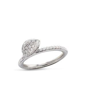 Pasquale Bruni 18K White Gold Secret Garden Single Petal Pave Diamond Ring 2442469