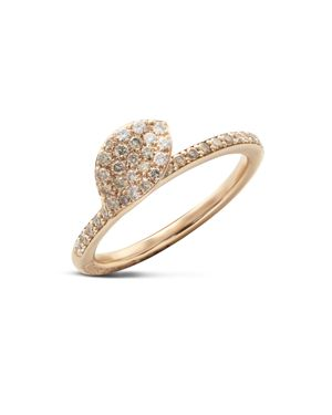 Pasquale Bruni 18K Rose Gold Secret Garden Single Petal Pave Diamond Ring