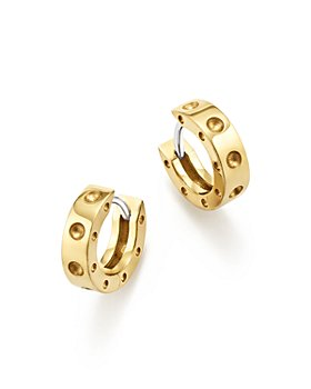 Roberto Coin - 18K Yellow Gold Symphony Pois Moi Huggie Hoop Earrings