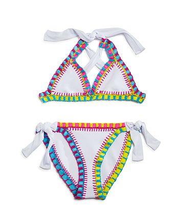 PilyQ - Girls' Crochet 2-Piece Swimsuit - Little Kid, Big Kid