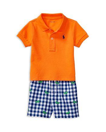 1aa4654d46a9e Ralph Lauren - Boys  Polo   Gingham Shorts Set - Baby