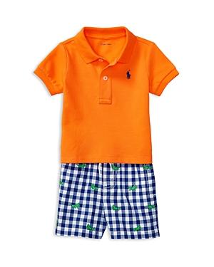 Ralph Lauren Childrenswear Boys Polo  Gingham Shorts Set  Baby
