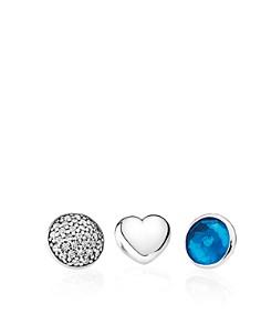 PANDORA Charms - Sterling Silver, London Blue Crystal & Cubic Zirconia December Petites, Set of 3 - Bloomingdale's_0