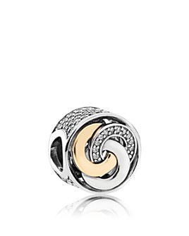 Pandora - Sterling Silver & 14K Gold Interlinked Circles Charm