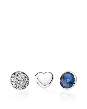 PANDORA - Necklace - Sterling Silver, Glass & Cubic Zirconia Floating Heart Locket & More