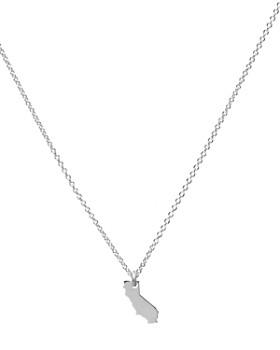 "Dogeared - I Love California Necklace, 16"""