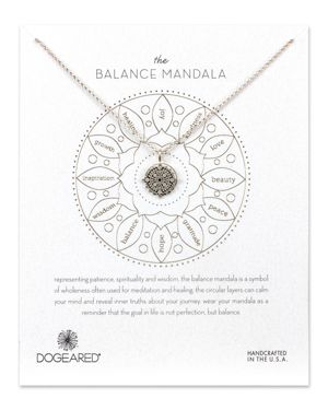 Dogeared Balance Mandala Necklace, 14
