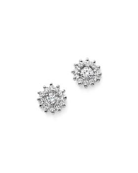 KC Designs - 14K White Gold Diamond Sunburst Earrings