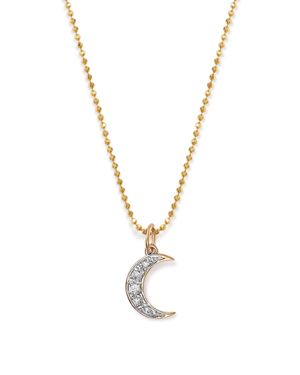 Kc Designs 14K Yellow Gold Diamond Moon Necklace, 16