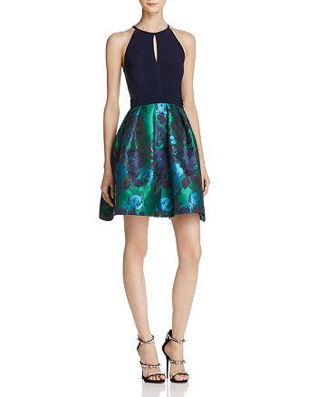 AQUA - Brocade-Skirt Dress - 100% Exclusive
