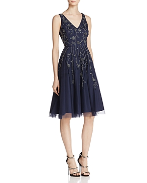 Adrianna Papell Embellished Fit-and-Flare Dress