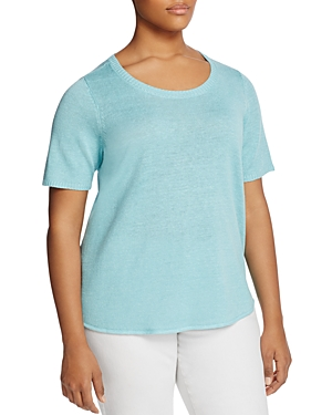 Eileen Fisher Plus Scoop Neck High/Low Tee