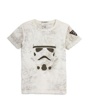 Courage & Kind Boys' Embroidered Star Wars Storm Trooper Tee - Little Kid, Big Kid
