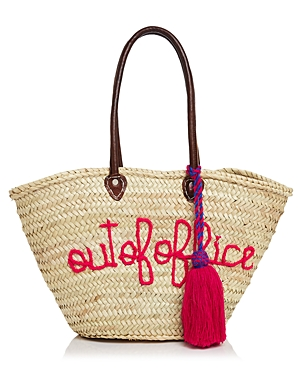 Soeur Du Maroc Out Of Office Straw Tote