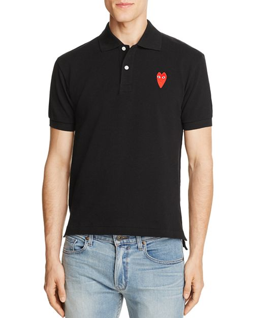 Comme Des Garcons PLAY - Long-Heart Slim Fit Polo Shirt