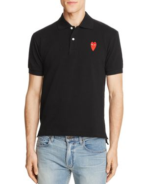 Comme Des Garcons Play Long-Heart Slim Fit Polo Shirt