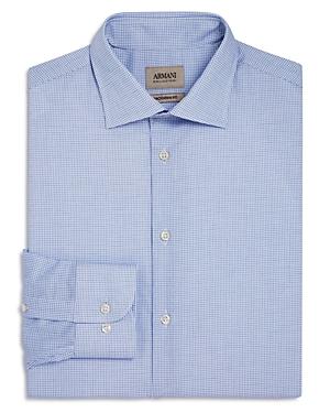 Armani Collezioni Micro Windowpane Classic Fit Dress Shirt