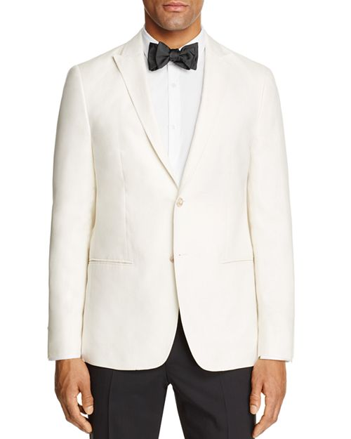 John Varvatos Star USA LUXE - Linen Regular Fit Tuxedo Jacket