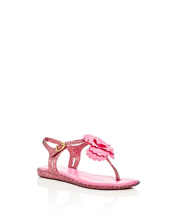 Mini Melissa - Girls' Mel Glitter Solar Thong Slingback Sandals - Toddler, Little Kid