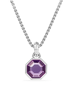 David Yurman - Cable Collectibles Octagon Cut Amulet with Amethyst