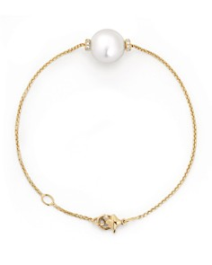 David Yurman - Solari Single Station Bracelet in 18K Gold with Diamonds and South Sea Cultured Pearl