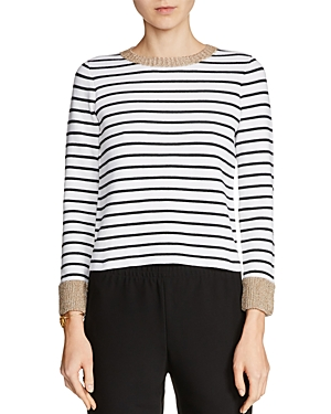 Maje Martina Striped Sweater