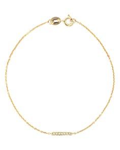 Dana Rebecca Designs - 14K Yellow Gold Sylvie Rose Diamond Bar Station Bracelet