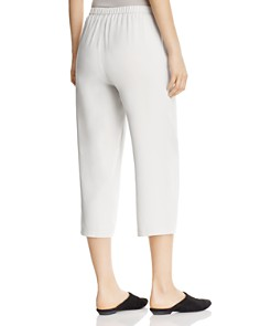 Eileen Fisher - System Straight Crop Silk Pants