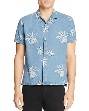 Barney Cools Fern-Print Regular Fit Button-Down Shirt